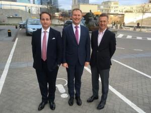 Haagen Schweinitz, Rytis Ambrazevičius (President, BICG) and Peter Crow in Vilnius